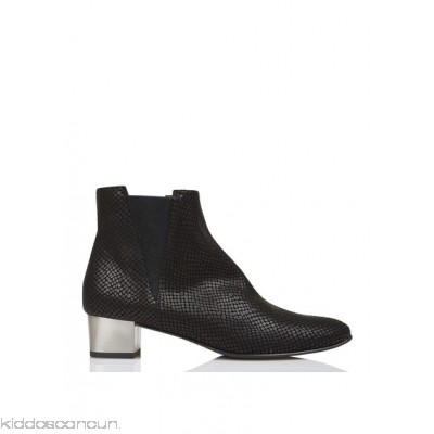 EMMA GO - Women - Edgar Metal reptile-detail leather ankle boots with heel T4q8MEKL