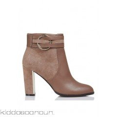 JONAK - Women - Leather and suede ankle boots with heel and metal detail no2akJjm