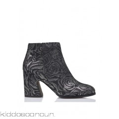 MELLOW YELLOW - Women - Caflowery metallic jacquard ankle boots with heel E9hVCyqj