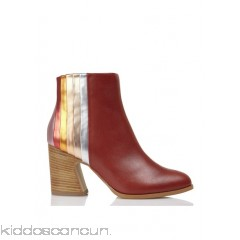 MELLOW YELLOW - Women - Heeled ankle boots with multicolor strips yfKznsjS