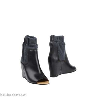 MM6 MAISON MARGIELA Ankle boot - sweatshirt fleece no appliqués two-tone pattern open toe leather lining rubber sole - Womens Ankle Boots 11161827VE
