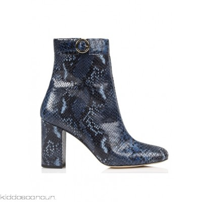 PETITE MENDIGOTE - Women - Prouve Exotic python-pattern leather ankle boots with heel qjsvB1IQ