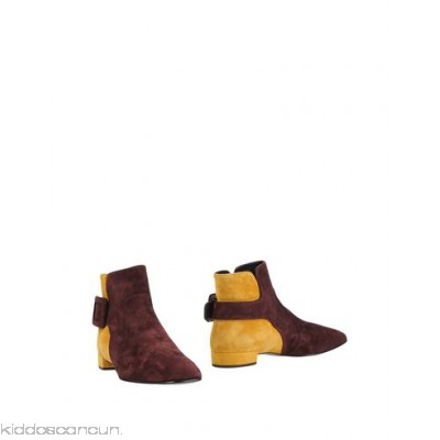 ROGER VIVIER Ankle boot - sueded effect buckle two-tone pattern square toeline square heel covered heel - Womens Ankle Boots 11319706AS