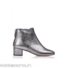 TILA MARCH - Women - Zipped heeled metallic leather ankle boots Uyc2mElH