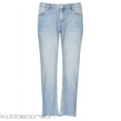 REIKO - Women - Boxy cropped jeans with star print P8hu8Xob