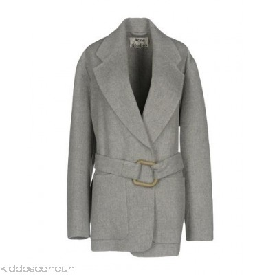 ACNE STUDIOS Belted coats - baize belt solid colour single-breasted lapel collar multipockets - Womens Coats 41756256OW