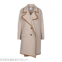 AGNONA Coat - knitted leather applications solid colour single-breasted  lapel collar unlined - Womens Coats 41783548CD