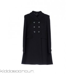 ALEXANDER MCQUEEN Coat - cool wool no appliqués solid colour double-breasted button closing lapel collar - Womens Coats 41768819SN
