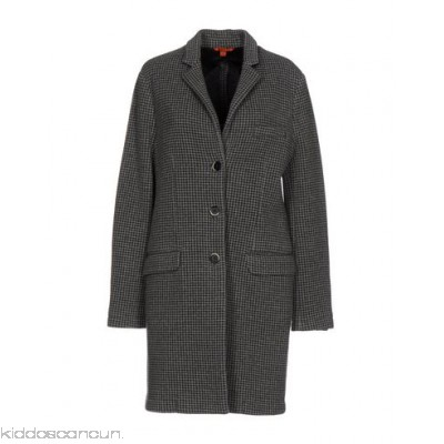 BARENA Coat - knitted no appliqués checked design lapel collar single-breasted 3 buttons - Womens Coats 41701744JQ
