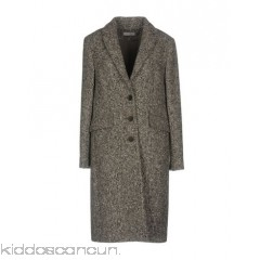 CAPPELLINI by PESERICO Coat - bouclé no appliqués multicolour pattern single-breasted  button closing lapel collar - Womens Coats 41755562DL
