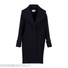 CARVEN Coat - plain weave no appliqués basic solid colour single-breasted  button closing lapel collar - Womens Coats 41783468PS