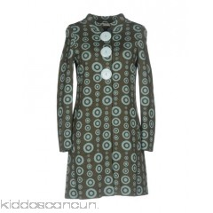 CHARLOTT Coat - knitted no appliqués two-tone pattern single-breasted  snap button closure round collar - Womens Coats 41751624VJ