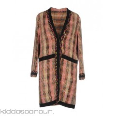ETRO Coat - grosgrain bouclé no appliqués multicolour pattern single-breasted  snap button closure - Womens Coats 41776692PV