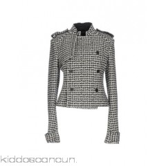 HAIDER ACKERMANN Coat - flannel flashes houndstooth round collar double-breasted button closing - Womens Coats 41718119ID