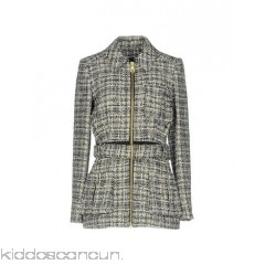LANVIN Coat - tweed lamé sash two-tone single-breasted  zip - Womens Coats 41771494LN