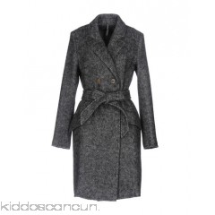 LIVIANA CONTI Coat - flannel no appliqués herringbone double-breasted button closing multipockets - Womens Coats 41735478MH