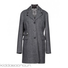 MABRUN Coat - flannel detachable application herringbone single-breasted  button closing lapel collar - Womens Coats 41786463ED