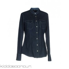 <b>Notice</b>: Undefined index: alt_image in <b>/home/kiddoscancun/public_html/vqmod/vqcache/vq2-catalog_view_theme_cerah_template_product_category.tpl</b> on line <b>73</b>GAS Denim shirt - denim logo solid colour dark wash long sleeves mandarin collar - Womens Denim Shirts 42651185GF