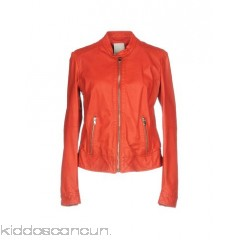 BROGDEN Biker jacket - leather no appliqués solid colour single-breasted  snap-buttons zip - Womens Biker Jackets 41768746CU