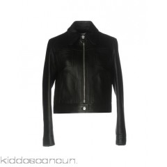 CARVEN Biker jacket - leather no appliqués basic solid colour single-breasted  zip peter pan collar - Womens Biker Jackets 41754371RT
