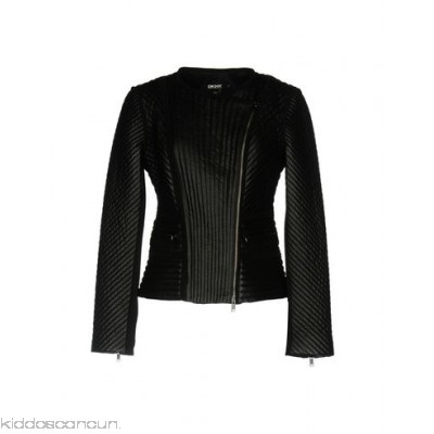 DKNY Biker jacket - leather quilted logo solid colour single-breasted zip - Womens Biker Jackets 41759589FO