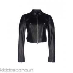 GIVENCHY Biker jacket - leather no appliqués solid colour snap-buttons zip single-breasted  - Womens Biker Jackets 41768907GO