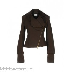 ICEBERG Biker jacket - gabardine no appliqués solid colour single-breasted  zip lapel collar - Womens Biker Jackets 49327798MS