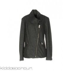 <b>Notice</b>: Undefined index: alt_image in <b>/home/kiddoscancun/public_html/vqmod/vqcache/vq2-catalog_view_theme_cerah_template_product_category.tpl</b> on line <b>73</b>MAISON SCOTCH Biker jacket - flannel logo solid colour round collar single-breasted  snap-buttons - Womens Biker Jackets 41701331JR