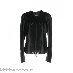 ROBERTO CAVALLI Biker jacket - lace leather no appliqués solid colour single-breasted  zip - Womens Biker Jackets 41773026AL