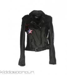 TIGHA Belted coats - leather belt logo solid colour single-breasted  zip - Womens Biker Jackets 41758858FT