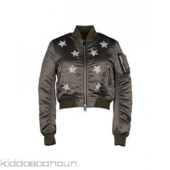 AINEA Bomber - satin rhinestones contrasting applications two-tone single-breasted  zip - Womens Bombers 41784892CE
