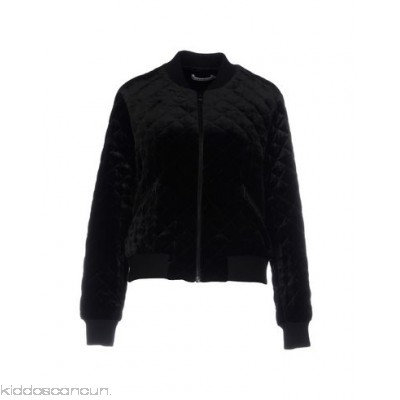ALICE + OLIVIA Bomber - velvet no appliqués solid colour single-breasted zip round collar - Womens Bombers 41778867BN
