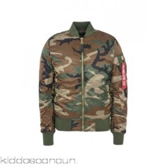 ALPHA INDUSTRIES INC. Bomber - techno fabric no appliqués camouflage single-breasted  zip round collar - Womens Bombers 41765042AV