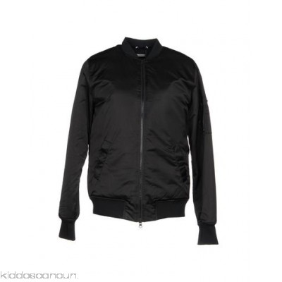 BLANC NOIR® Bomber - techno fabric no appliqués solid colour single-breasted zip round collar - Womens Bombers 41783350BR