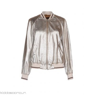 BRUNELLO CUCINELLI Bomber - laminated effect no appliqués solid colour single-breasted zip round collar - Womens Bombers 41775776SP