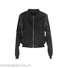 FORNARINA Bomber - techno fabric rhinestones metal applications solid colour single-breasted  zip - Womens Bombers 41751690PV