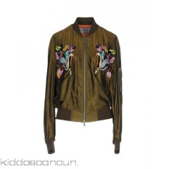 FORTE COUTURE Bomber - satin beaded sequins solid colour single-breasted  zip - Womens Bombers 41768801QU