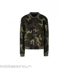 GEORGE J. LOVE Bomber - gabardine no appliqués camouflage design single-breasted  zip round collar - Womens Bombers 41757952WS