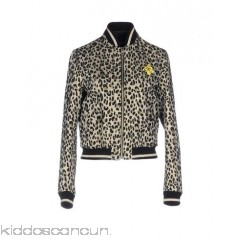 JUST CAVALLI Bomber - jacquard plain weave lamé contrasting applications leopard-print single-breasted  - Womens Bombers 41774572QW