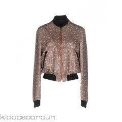 JUST CAVALLI Bomber - knitted plain weave sequins multicolour pattern single-breasted  round collar - Womens Bombers 41757375KR