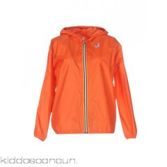 K-WAY Bomber - techno fabric logo solid colour round collar single-breasted  zip - Womens Bombers 41674819GT