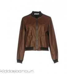 KAOS Bomber - faux leather no appliqués solid colour single-breasted  zip round collar - Womens Bombers 41754922QK