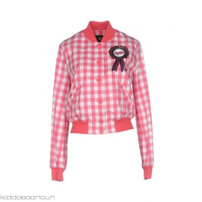 LOVE MOSCHINO Bomber - twill sequins logo checked design single-breasted button closing - Womens Bombers 41757951HI