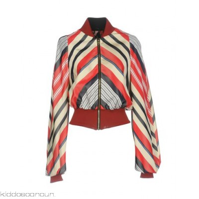 LUCILLE Bomber - satin no appliqués stripes single-breasted zip round collar - Womens Bombers 41756481QV