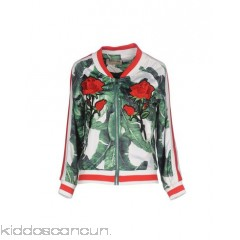 MUST Bomber - satin sequins contrasting applications floral design single-breasted  zip - Womens Bombers 41750895LD