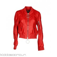 OFF-WHITE™ Bomber - leather print solid colour single-breasted  zip round collar - Womens Bombers 41760543RW