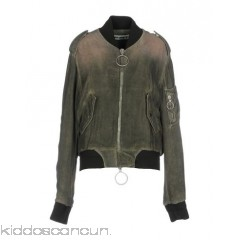 OFF-WHITE™ Bomber - plain weave faded solid colour single-breasted  zip round collar - Womens Bombers 41776414QN