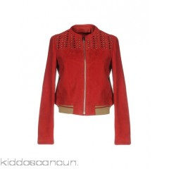 PINKO Bomber - leather nubuck studs solid colour single-breasted  zip - Womens Bombers 41774447HO