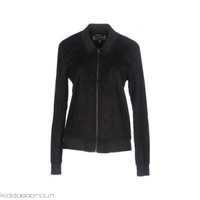 POP COPENHAGEN Bomber - synthetic fibre sueded effect no appliqués solid colour single-breasted zip - Womens Bombers 41750657JS