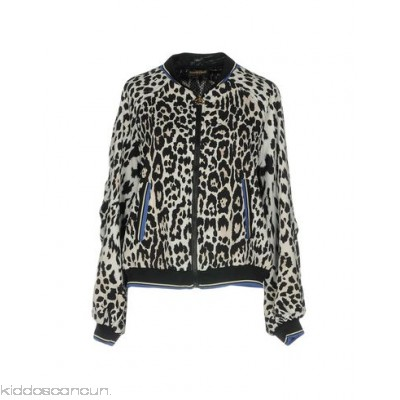 ROBERTO CAVALLI GYM Bomber - crepe no appliqués leopard-print single-breasted zip round collar - Womens Bombers 12109364DR